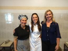 Chef Maria Dias, Rafaela Dorta (nutricionista da instituição) e Angelina Passos (psicóloga da instituição).