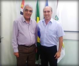 Reunião com o coordenador de produtos da FACESP/SP, Ronaldo de Abreu.