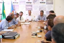 ACEG participa de reunião para instalação do batalhão da PM na Enseada