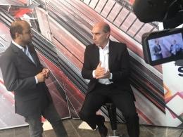 Presidente da Associação Comercial Rogério Sachs em entrevista na TV Ilha do Sol sobre associativismo e benefícios da ACEG.
