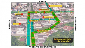 Ruas do centro de Guarujá têm mudança no trânsito a partir desta sexta(11)